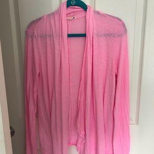 Sundry pink flowy cardigan size 2